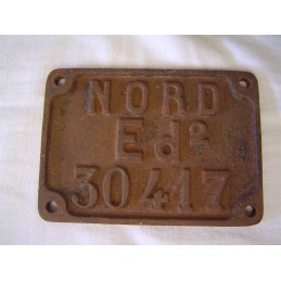Nord Plaque de Wagon Ed2 30417