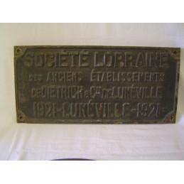 Plaque Constructeur Société...
