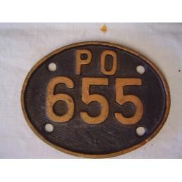P.O Plaque n°655