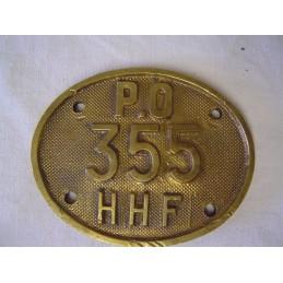 P.O Plaque 355 HFF