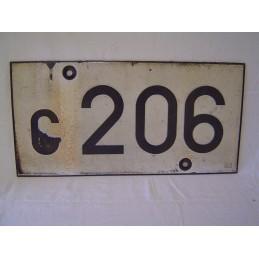 Plaque de Signal C 206