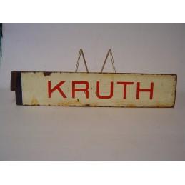 KRUTH Plaque de destination...