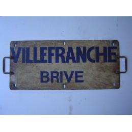 Villefranche Brive plaque...