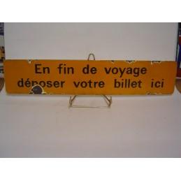En Fin de Voyage Déposer...