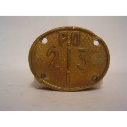 Plaque P.O 213 I en bronze